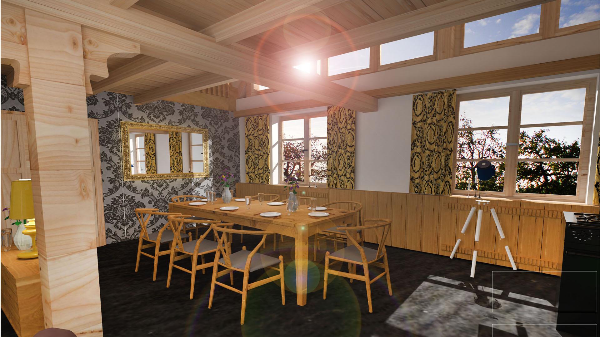 Entwurf Landhaus - Esszimmer